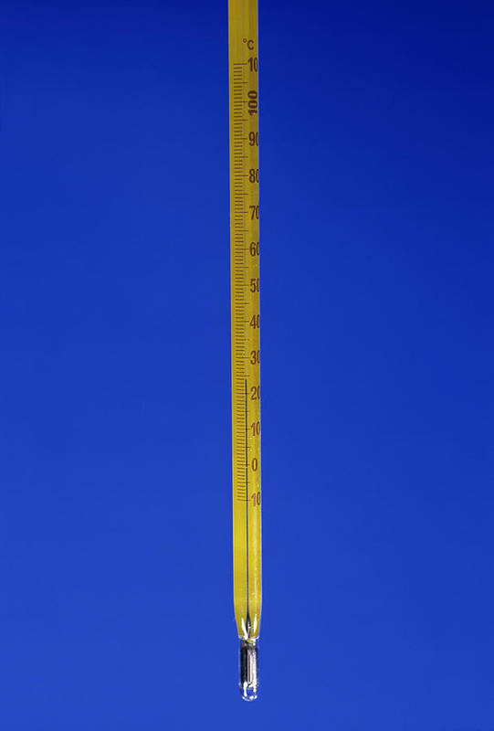 Equipment Art Print featuring the photograph Mercury Thermometer by Andrew Lambert Photography