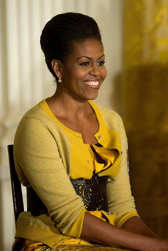 Michelle Obama Art Print featuring the photograph Michelle Obama Wearing A J. Crew by Everett
