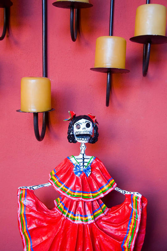 Casa De La Cuesta Art Print featuring the photograph Ms. Day Of The Dead by Eggers Photography
