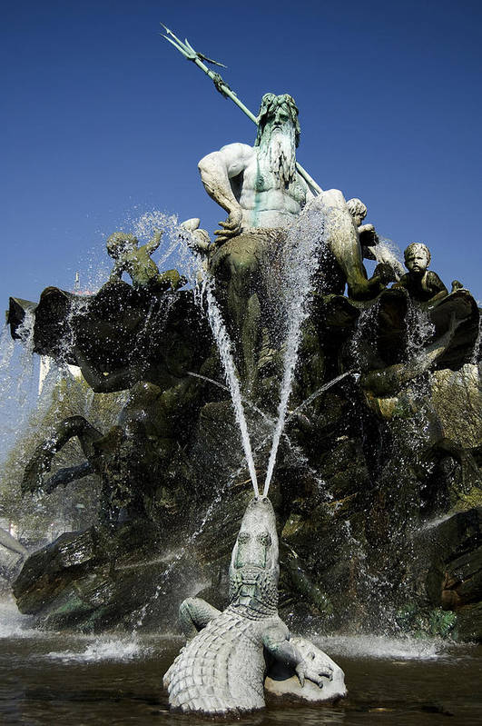 Neptune Art Print featuring the photograph Neptune Fountain by RicardMN Photography