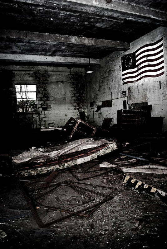Flag Art Print featuring the photograph Nike Base by Dom Manfredo