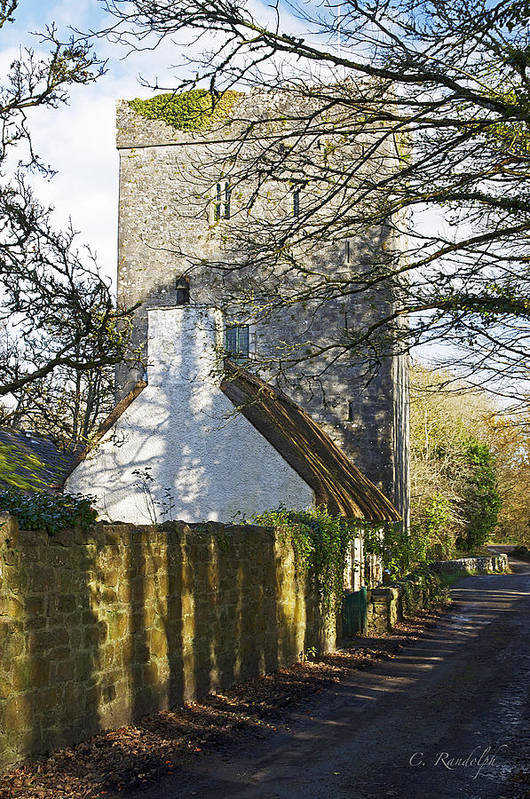 Thoor Ballylee Art Print featuring the photograph Norman Tower by Cheri Randolph