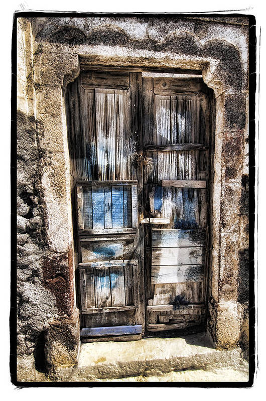 Art Art Print featuring the pyrography Old Door by Mauro Celotti