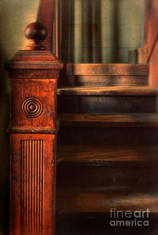 Stairs Art Print featuring the photograph Old Staircase by Jill Battaglia