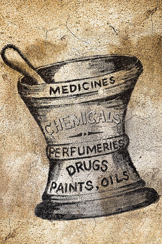 Public Art Print featuring the photograph Old Time Medicine Ad by Wendy White