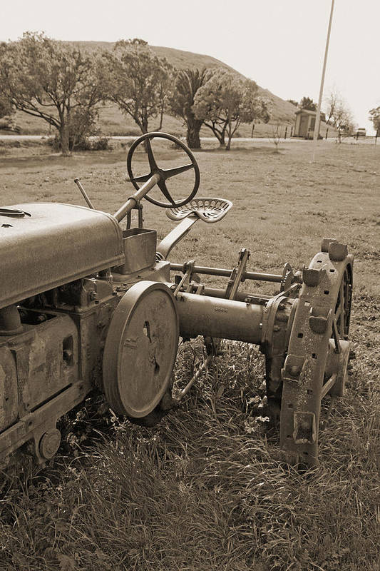 Tractor Art Print featuring the digital art Old Work Horse by Joe Fernandez