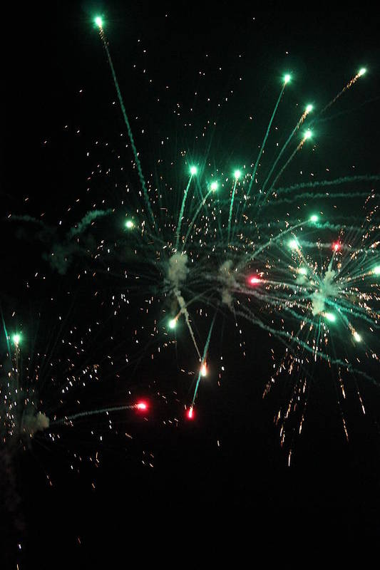 Fireworks Art Print featuring the photograph Paint The Night by Ashley Beeman