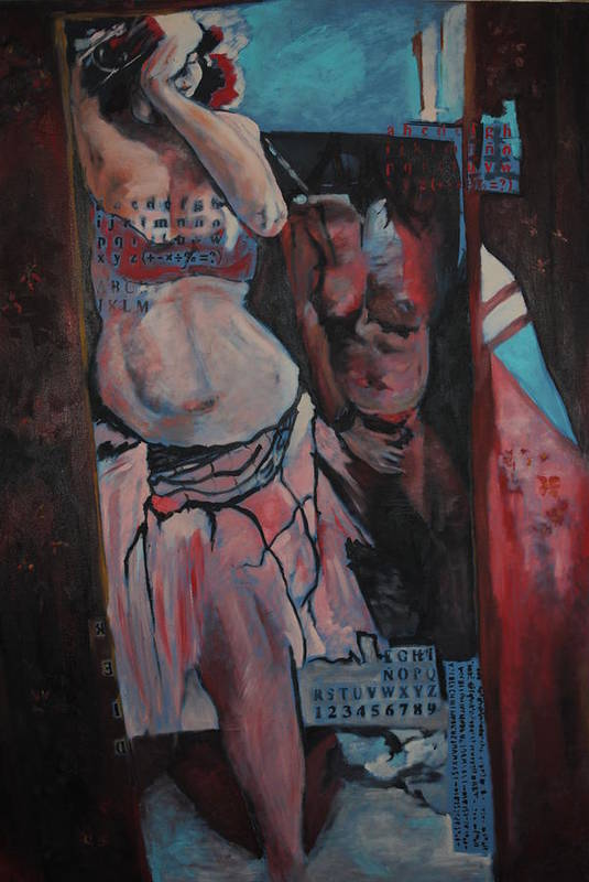 Belly Dance Art Print featuring the painting Pentaxk1000 Studio 06 by Rosanna Eid