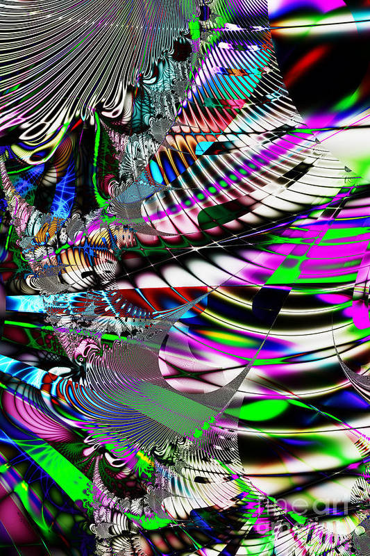 Fractal Art Print featuring the digital art Phoenix Rising . S3.s9 by Wingsdomain Art and Photography