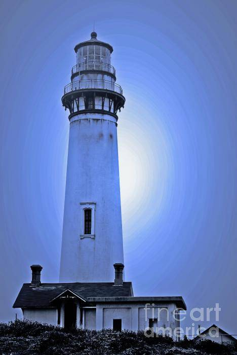 Lighthouse Art Print featuring the photograph Pigeon Point Lighthouse by Chih-Hung Kao