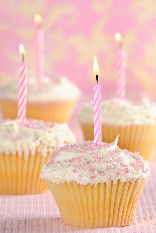 Cupcakes Art Print featuring the photograph Pink Party Cupcakes by Amanda Elwell