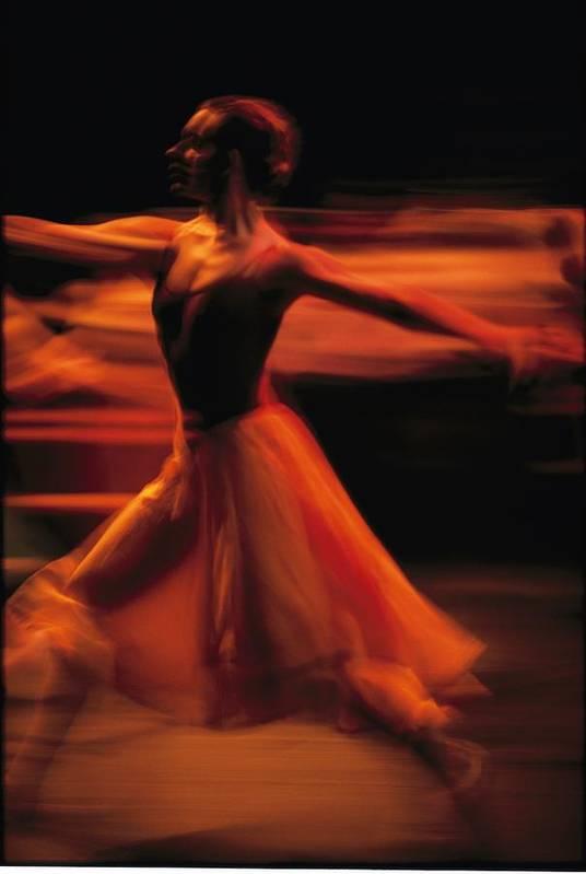 Africa Art Print featuring the photograph Portrait Of A Ballet Dancer Bathed by Michael Nichols