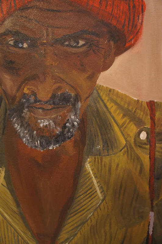 Portrait Art Print featuring the painting Portrait Of Beke Calebasse Haiti by Amanacer Originals