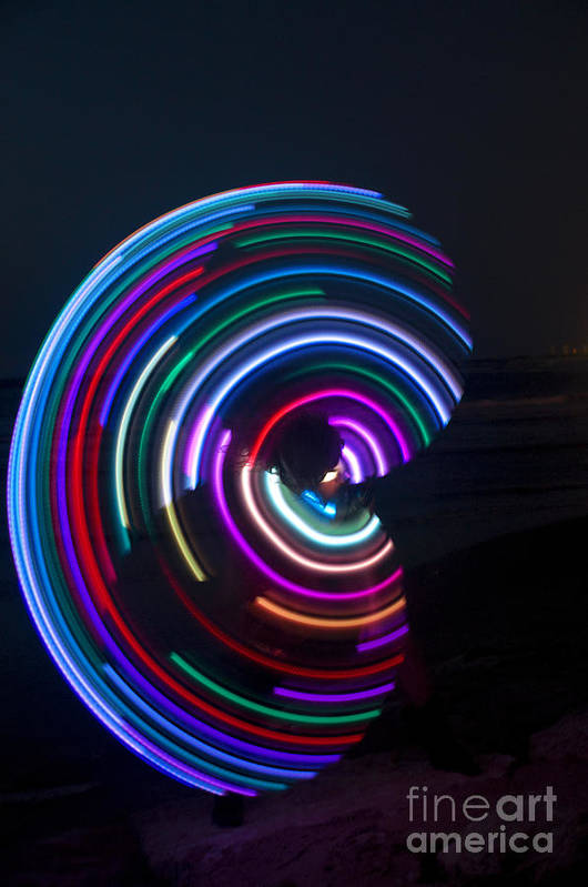Psychedelic Art Print featuring the photograph Psychedelic Hula Hoop by Ilan Rosen