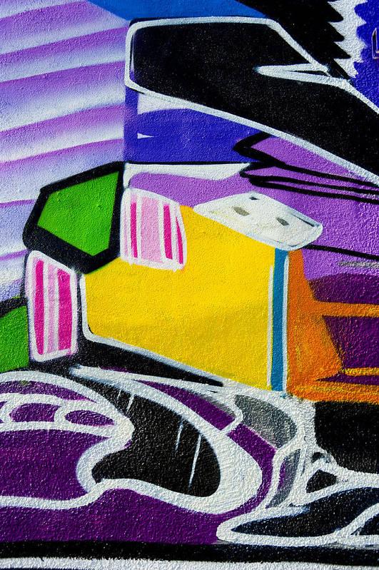 Graffiti Art Print featuring the photograph Purple For You by Armando Perez