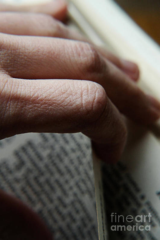 Thought Art Print featuring the photograph Reading The Bible by HD Connelly