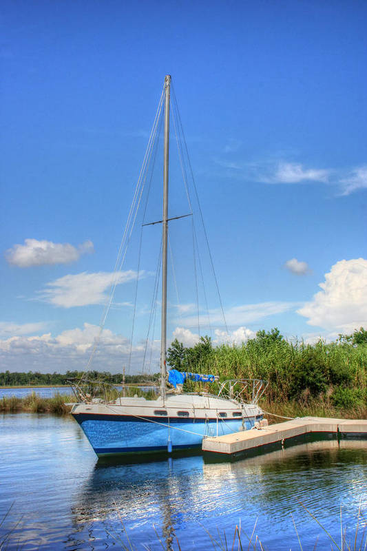 Sailboat Art Print featuring the photograph Ready To Sail by Barry Jones