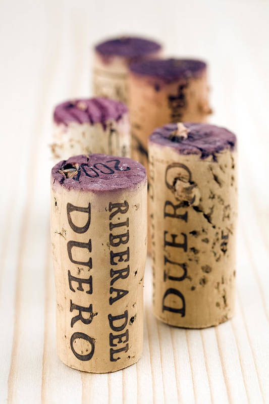 Red Wine Art Print featuring the photograph Red Wine Corks From Ribera Del Duero by Frank Tschakert