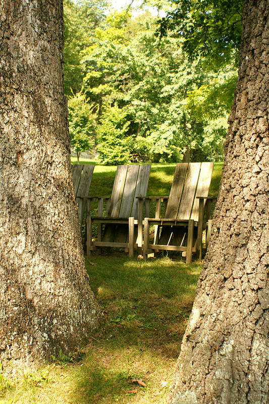 Chairs Art Print featuring the photograph Restful by Margaret Steinmeyer