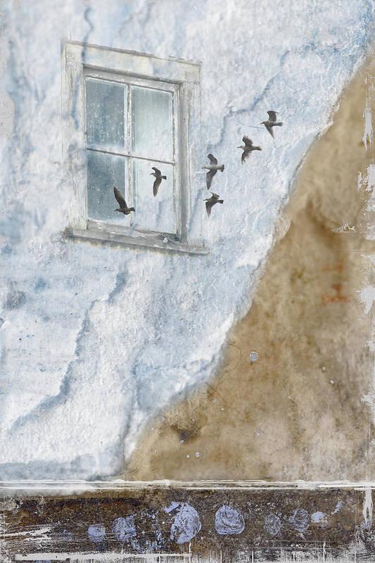 Gulls Art Print featuring the photograph Return Flight by Carol Leigh