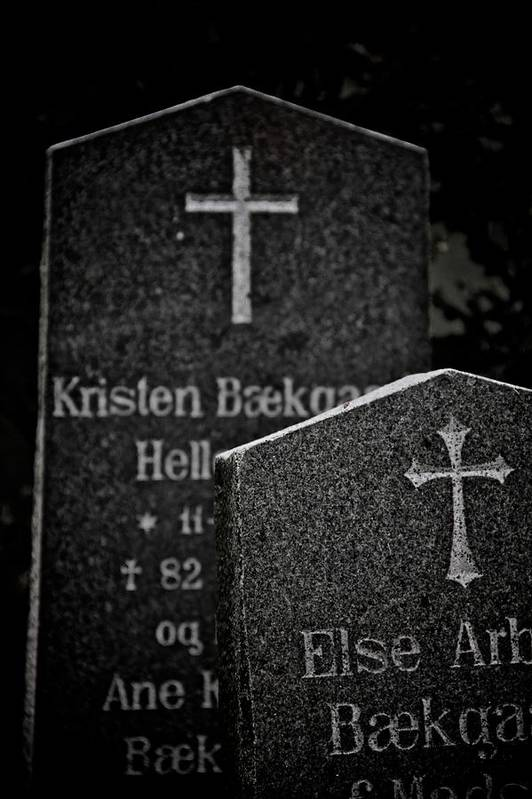 Headstones Print featuring the photograph Ritual by Odd Jeppesen