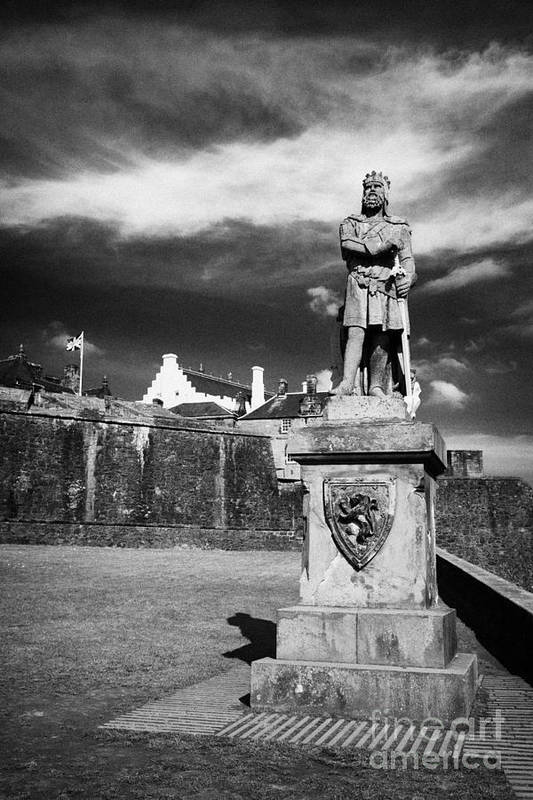Robert The Bruce Art Print featuring the photograph robert the bruce statue at stirling castle Scotland UK by Joe Fox