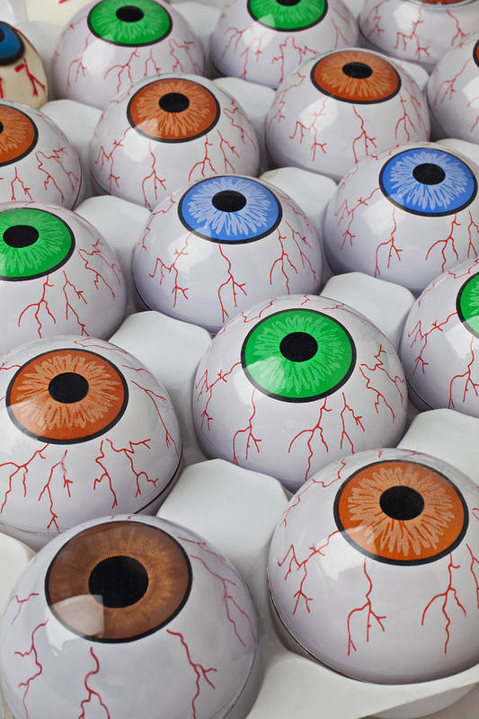 Rows Print featuring the photograph Rows Of Eyeballs by Garry Gay