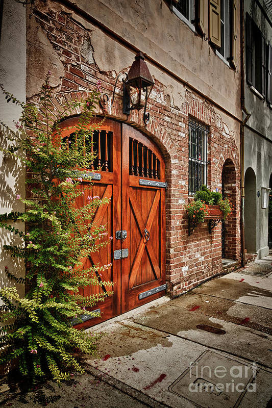 Charleston Art Print featuring the photograph Rustic Door by Steve Nelson