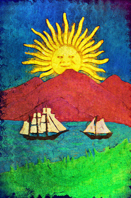 Sailboat Art Print featuring the digital art Safe Harbor by Bill Cannon