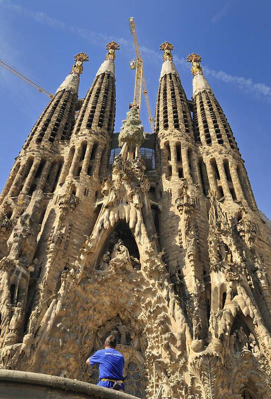 Sagrada Familia Art Print featuring the photograph Sagrada Familia Barcelona Spain by Matthias Hauser