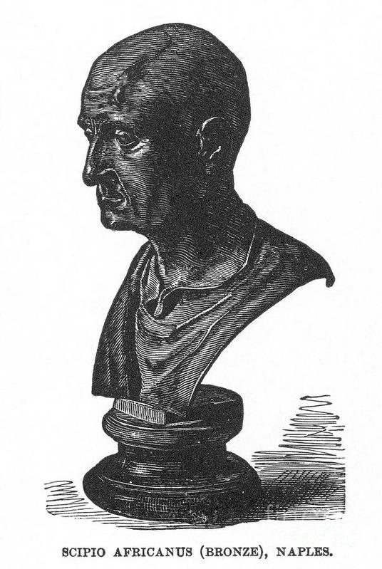 2nd Century B.c Art Print featuring the photograph Scipio Africanus by Granger