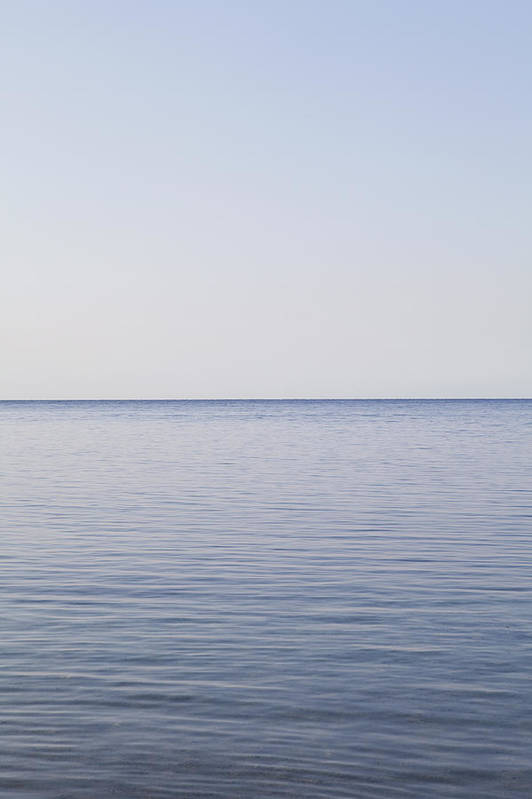 Vertical Art Print featuring the photograph Sea And Horizon by James French
