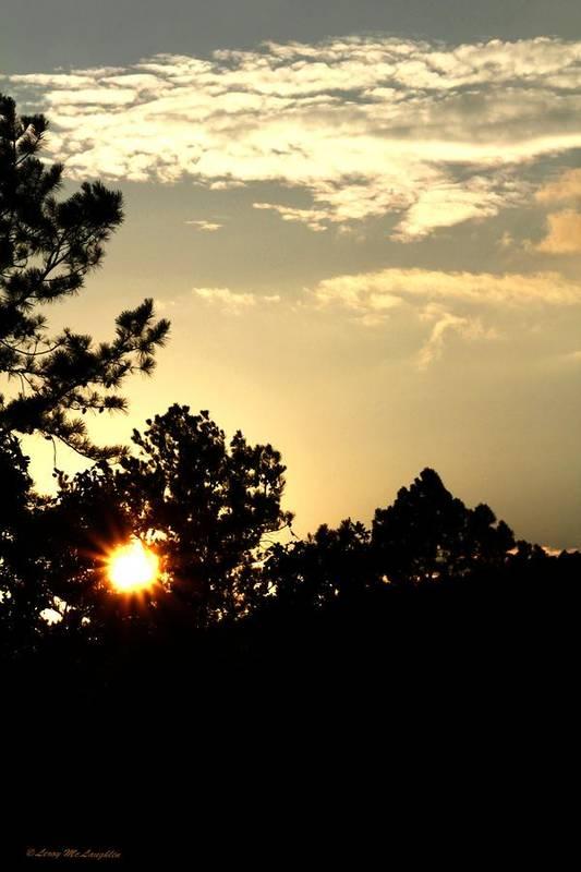 Sunset Photographs Art Print featuring the photograph Setting Sun by Leroy McLaughlin