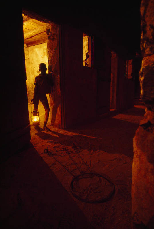 Indoors Art Print featuring the photograph Shackles In Cell On Goree Island Recall by Gordon Gahan