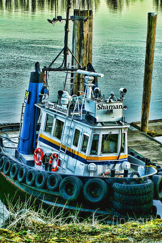 Boats Art Print featuring the photograph Shaman Tug-hdr by Randy Harris