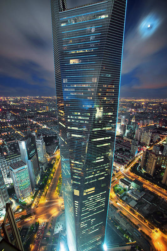 Vertical Art Print featuring the photograph Shanghai Tower by Blackstation