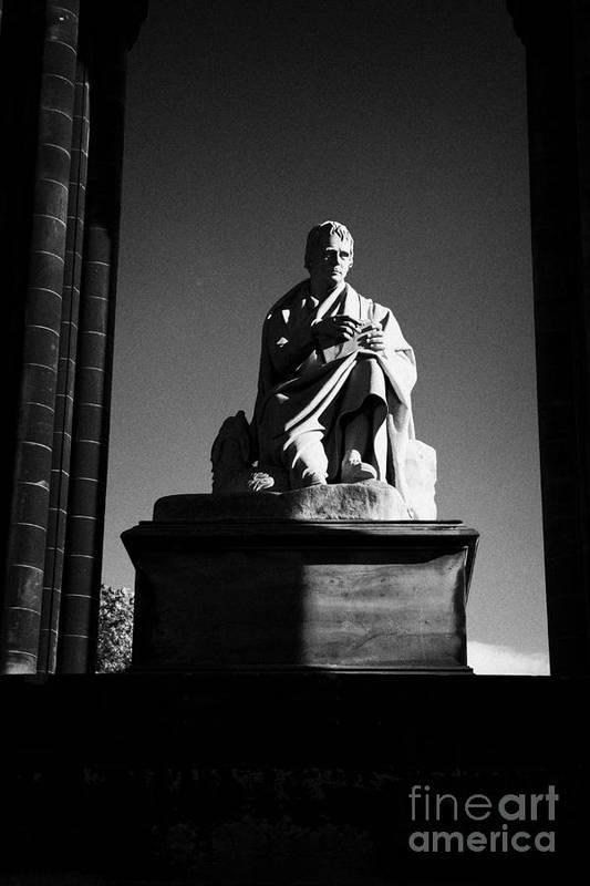 Sir Art Print featuring the photograph Sir Walter Scott Statue Inside The Monument On Princes Street Edinburgh Scotland Uk United Kingdom by Joe Fox