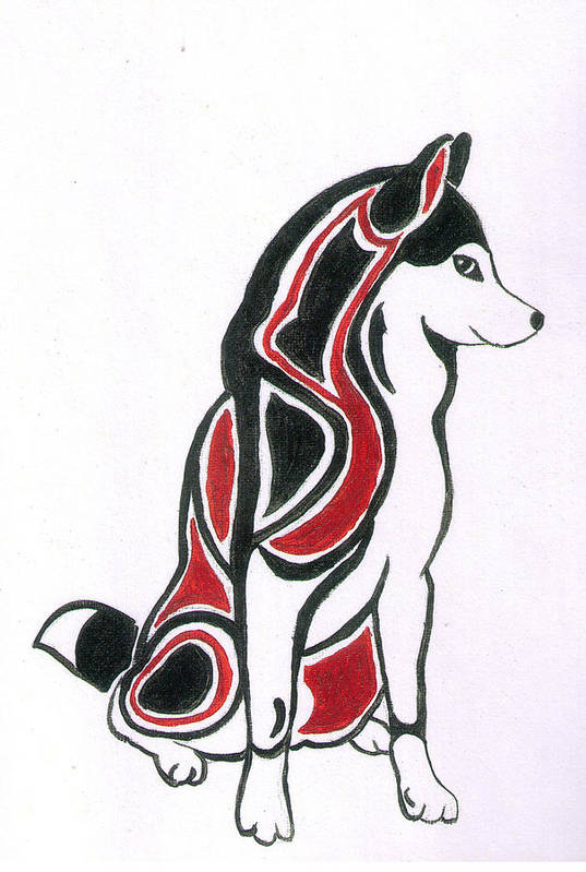 Husky Art Print featuring the painting Sprirt Of Rex by Tanya Stringer