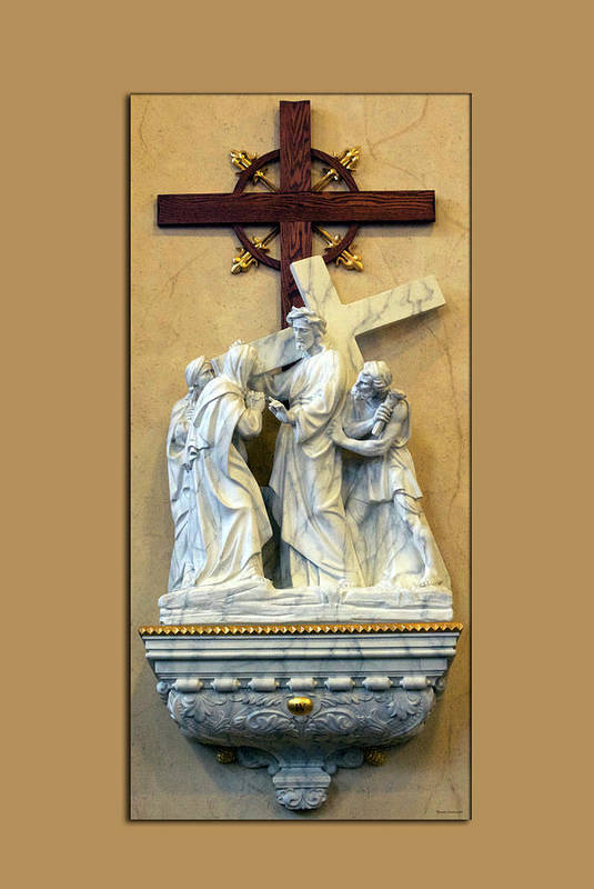 Statue Art Print featuring the photograph Station Of The Cross 04 by Thomas Woolworth