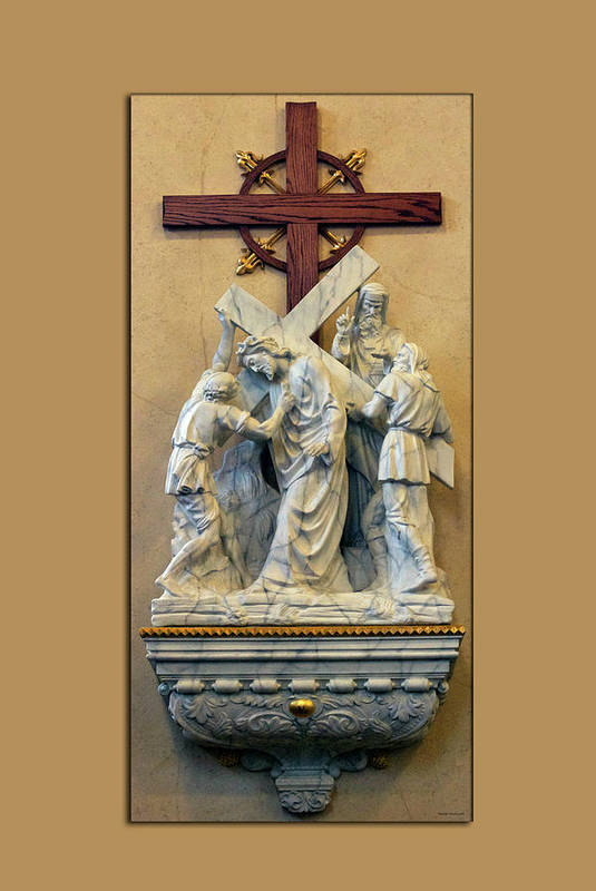 Statue Art Print featuring the photograph Station Of The Cross 05 by Thomas Woolworth