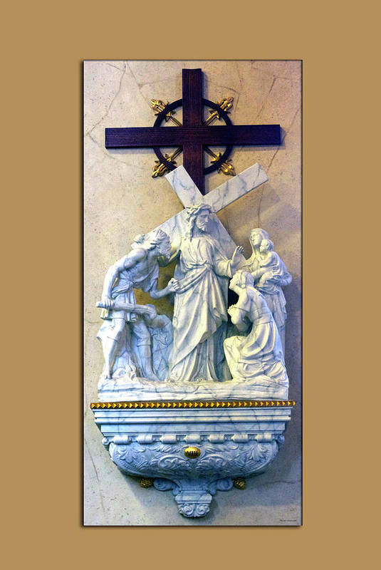 Statue Art Print featuring the photograph Station Of The Cross 08 by Thomas Woolworth