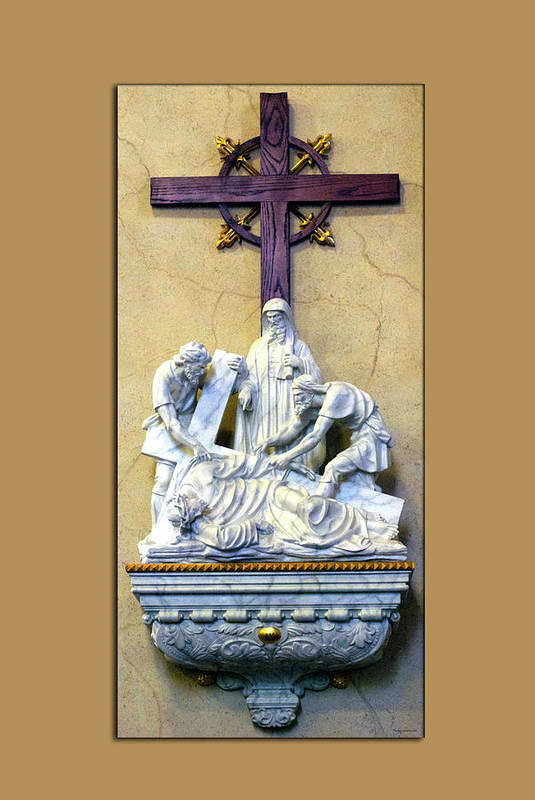 Statue Art Print featuring the photograph Station Of The Cross 09 by Thomas Woolworth