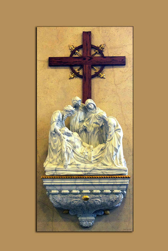 Statue Art Print featuring the photograph Station Of The Cross 14 by Thomas Woolworth