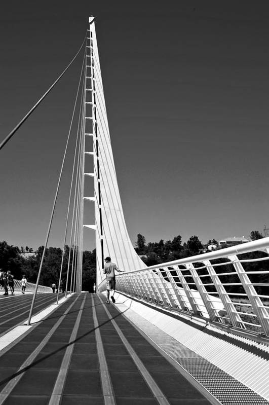 Architectural Photography Art Print featuring the photograph Sundial Bridge Two by Andre Salvador