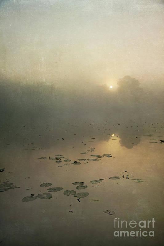 Sunrise Through Mist Art Print featuring the photograph Sunrise Through Mist by Paul Grand