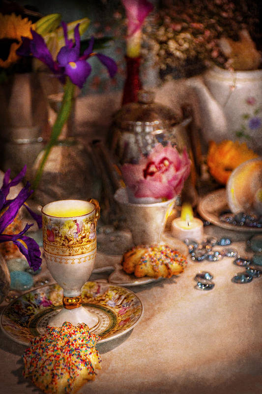 Tea Art Print featuring the photograph Tea Party - The Magic Of A Tea Party by Mike Savad