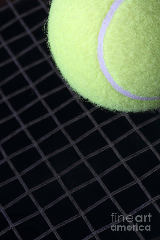 Tennis Art Print featuring the photograph Tennis Anyone by John Van Decker