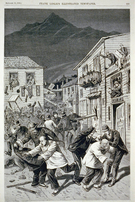 1880s Art Print featuring the photograph The Anti-chinese Riot In Denver by Everett