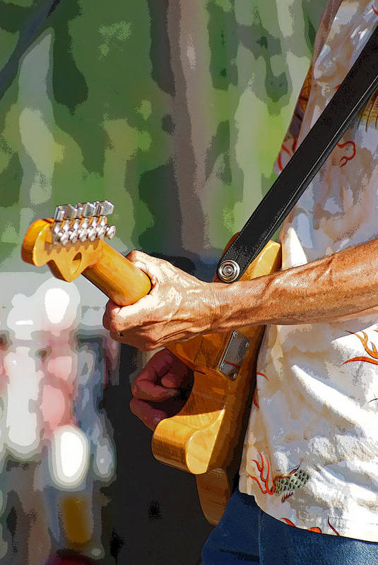 Music Art Print featuring the photograph The Guitar Player by Margie Avellino