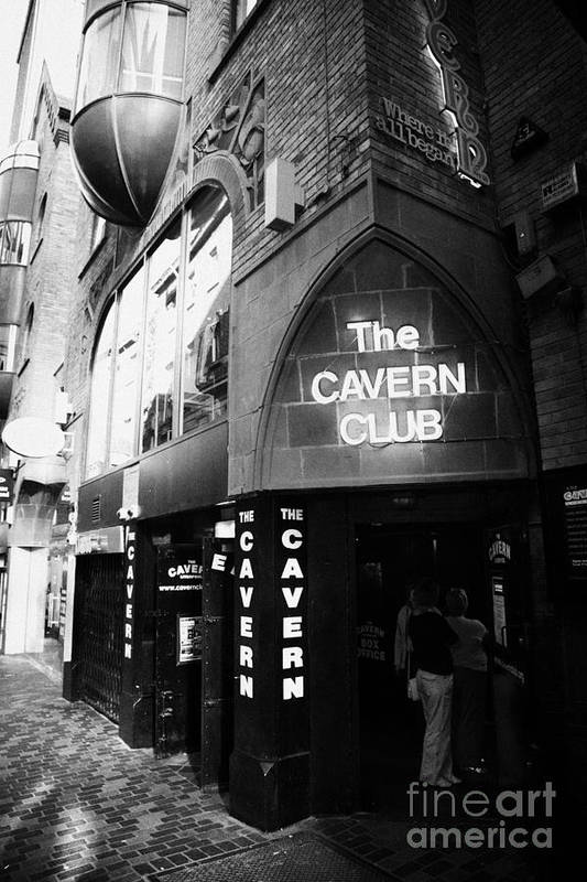 Mathew Art Print featuring the photograph The New Cavern Club In Mathew Street In Liverpool City Centre Birthplace Of The Beatles by Joe Fox